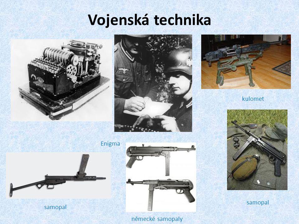 Vojenská technika kulomet Enigma samopal samopal německé samopaly