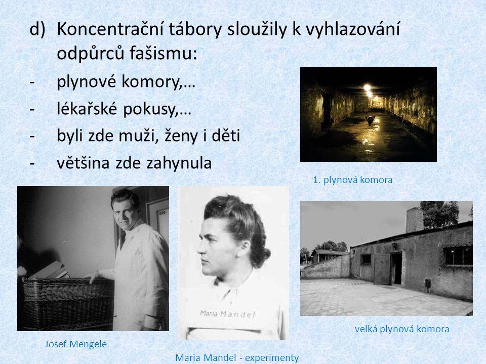 Koncentrační tábory sloužily k vyhlazování odpůrců fašismu: