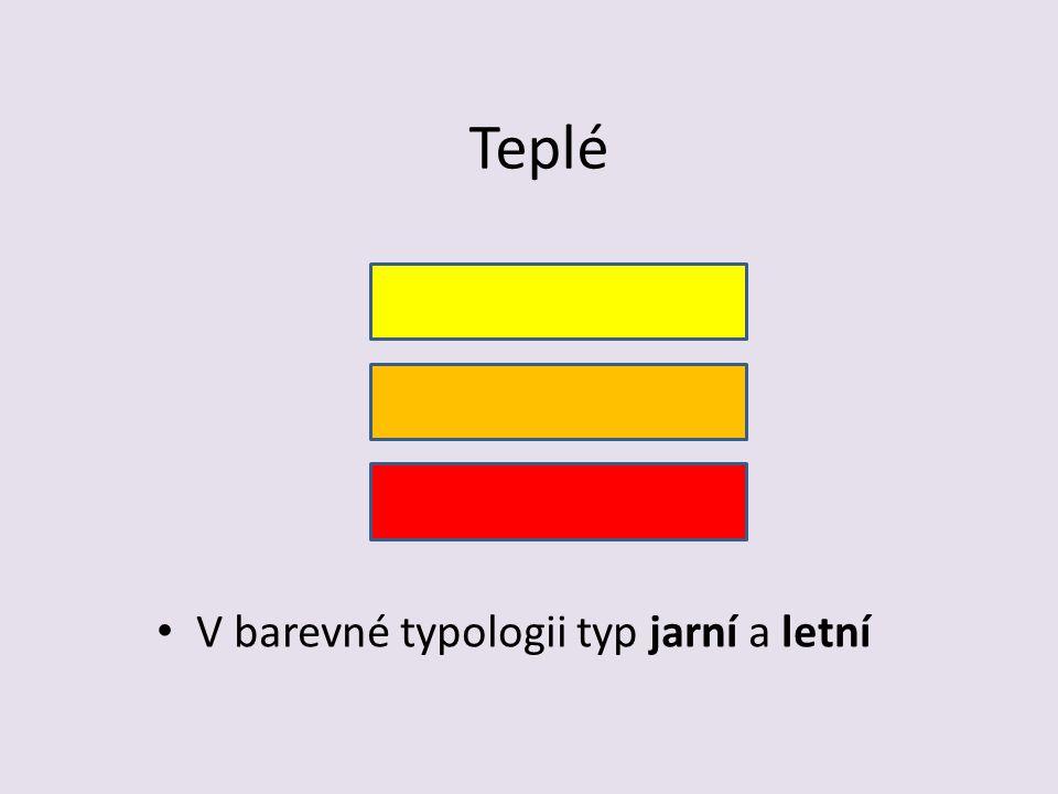 Teplé V barevné typologii typ jarní a letní
