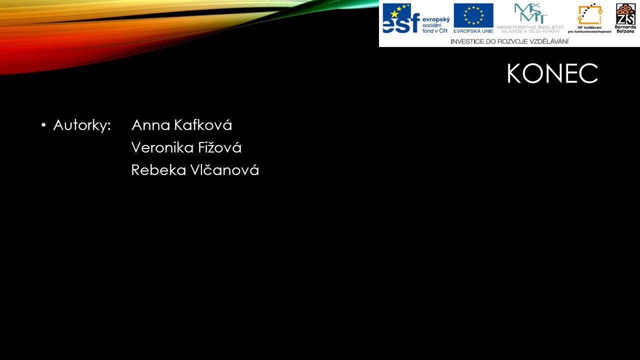 Konec Autorky: Anna Kafková Veronika Fižová Rebeka Vlčanová