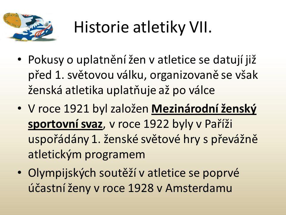 Historie atletiky VII.