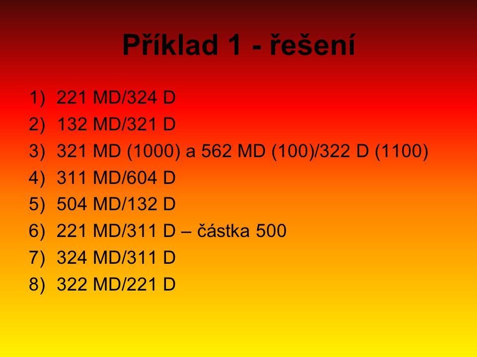 Příklad 1 - řešení 221 MD/324 D 132 MD/321 D