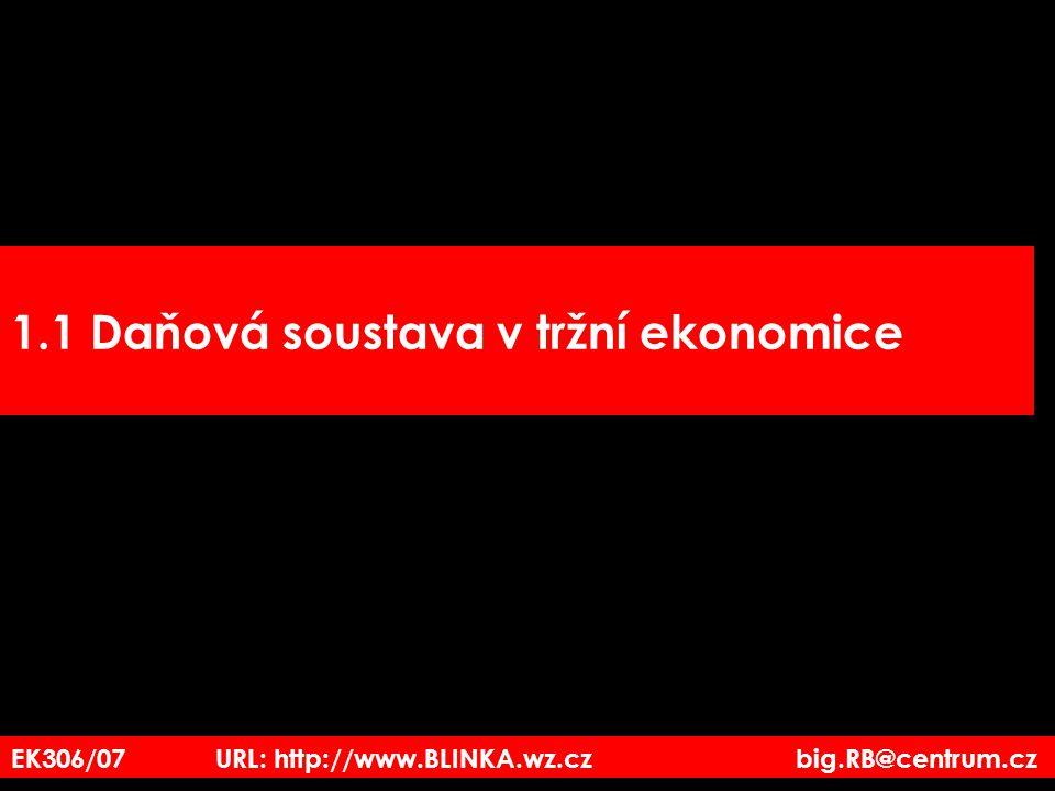 1.1 Daňová soustava v tržní ekonomice