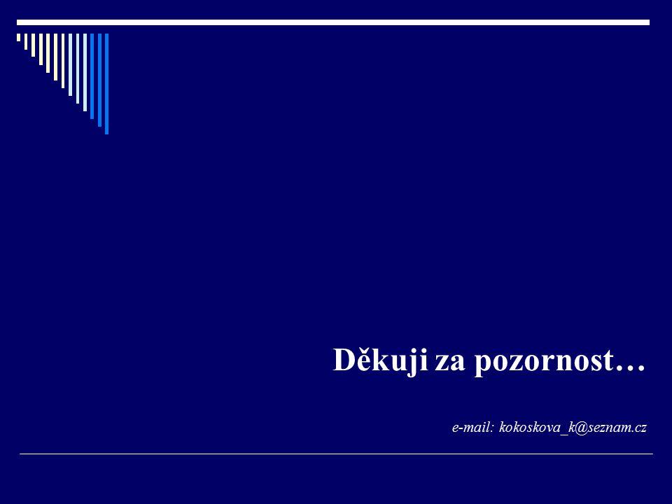 Děkuji za pozornost… e-mail: kokoskova_k@seznam.cz