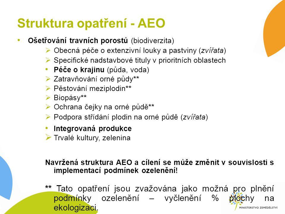 Struktura opatření - AEO