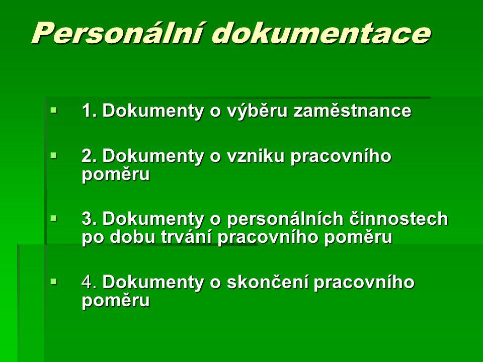 Personální dokumentace