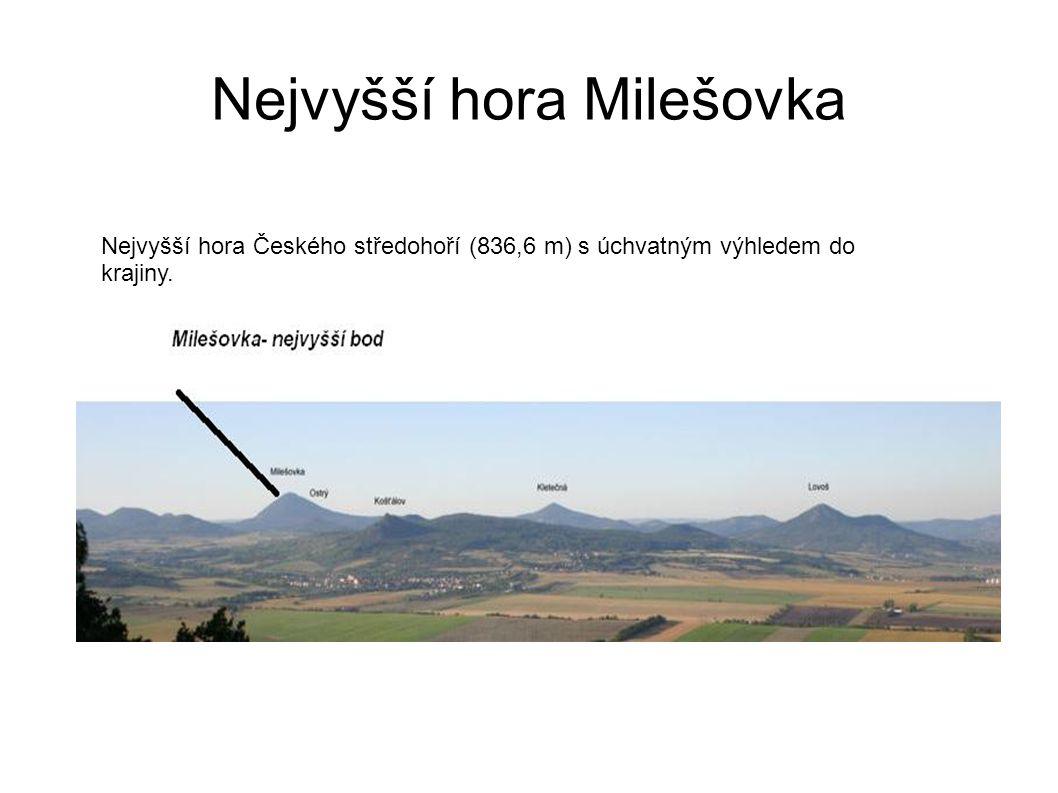 Nejvyšší hora Milešovka