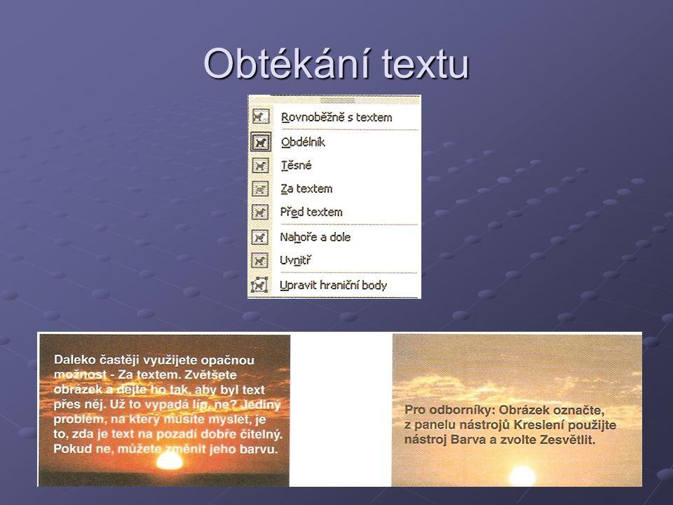 Obtékání textu