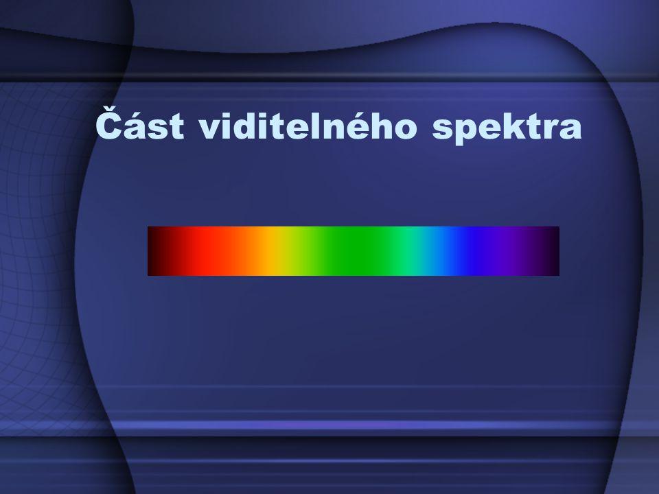 Část viditelného spektra