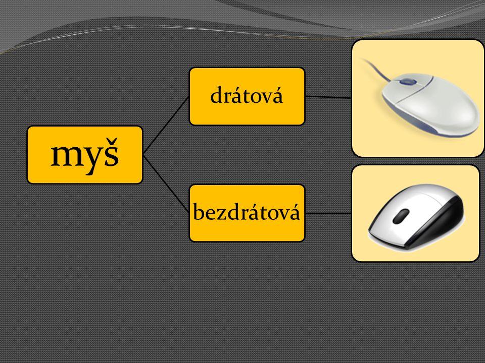 myš drátová bezdrátová