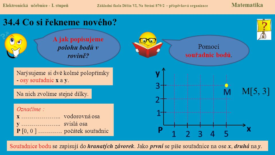 A jak popisujeme polohu bodů v rovině