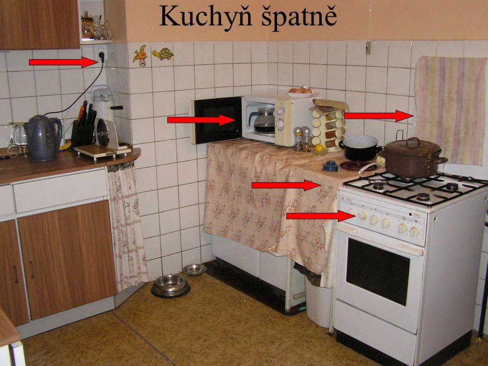 Kuchyň špatně
