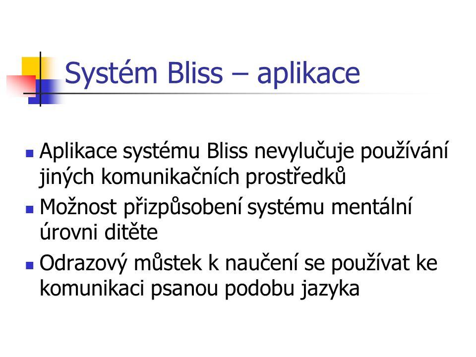 Systém Bliss – aplikace