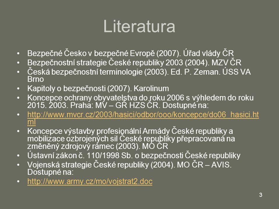 Literatura Bezpečné Česko v bezpečné Evropě (2007). Úřad vlády ČR