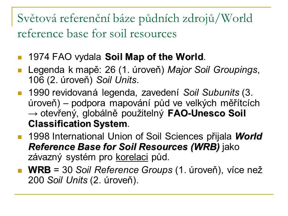 Světová referenční báze půdních zdrojů/World reference base for soil resources