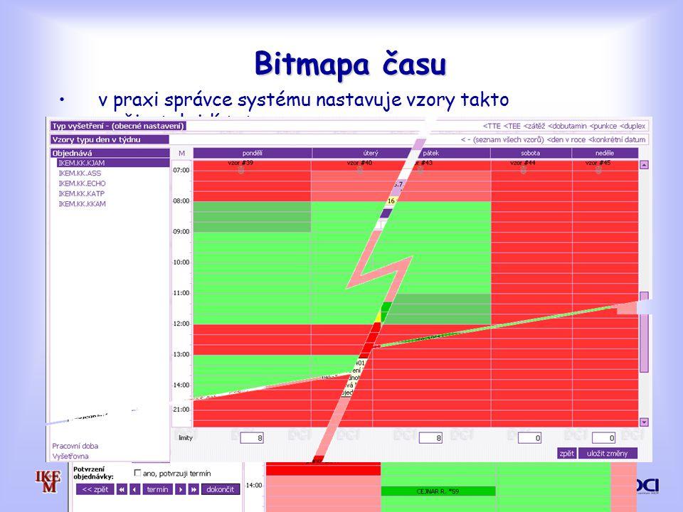 Bitmapa času v praxi správce systému nastavuje vzory takto
