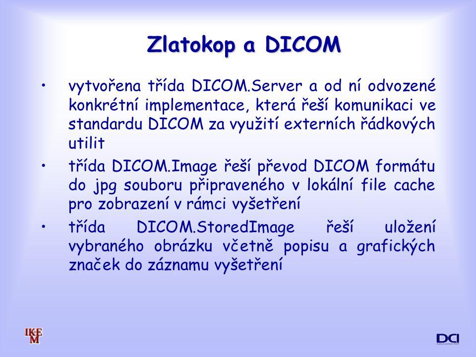 Zlatokop a DICOM