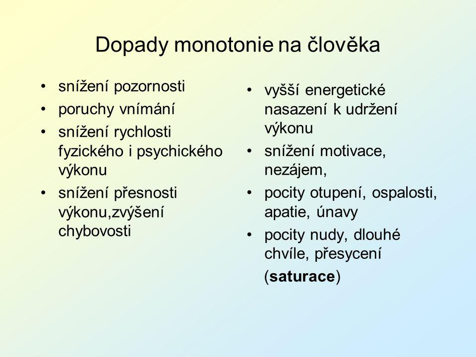 Dopady monotonie na člověka