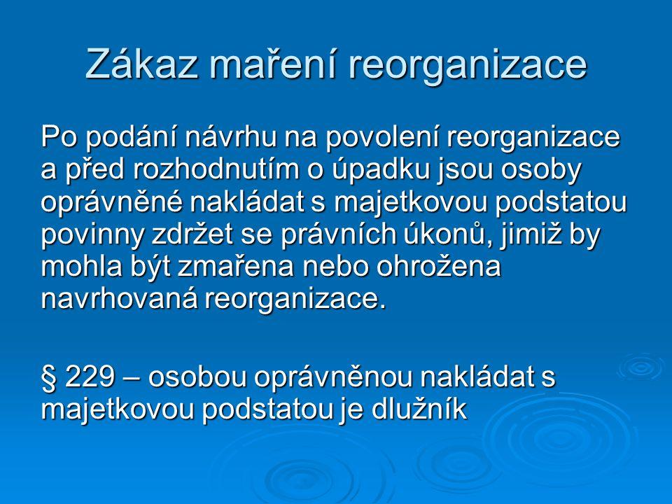 Zákaz maření reorganizace