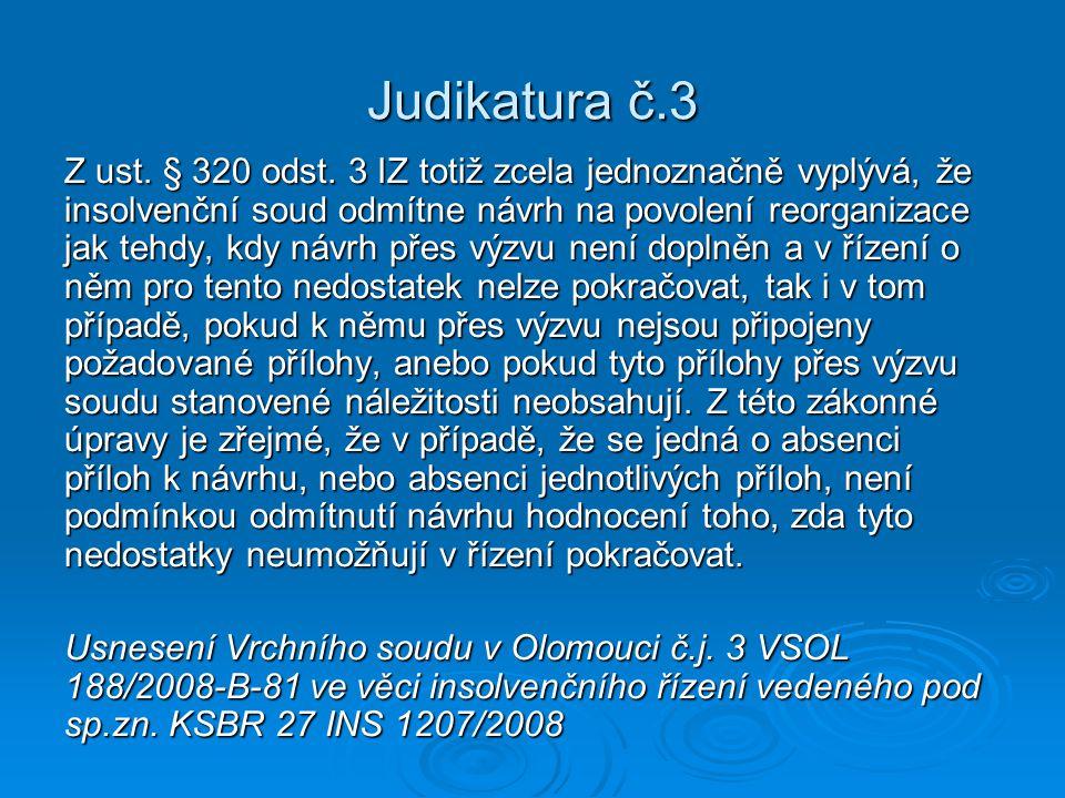 Judikatura č.3