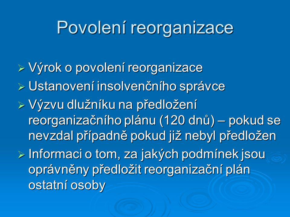 Povolení reorganizace