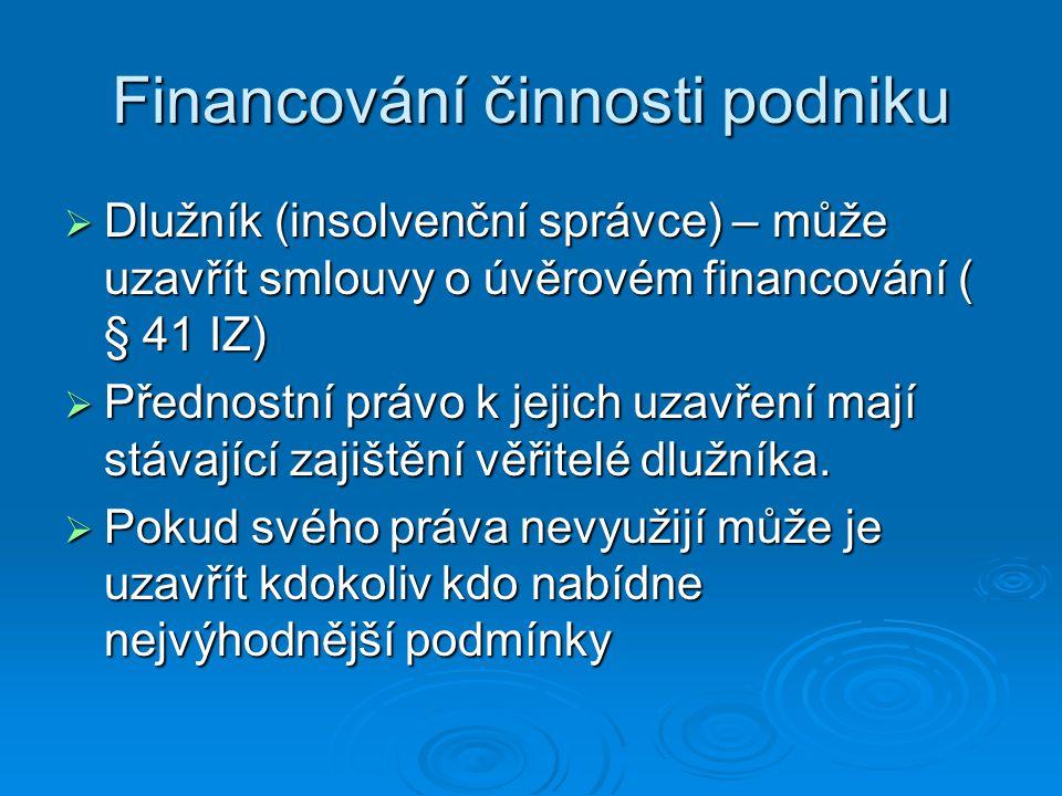 Financování činnosti podniku