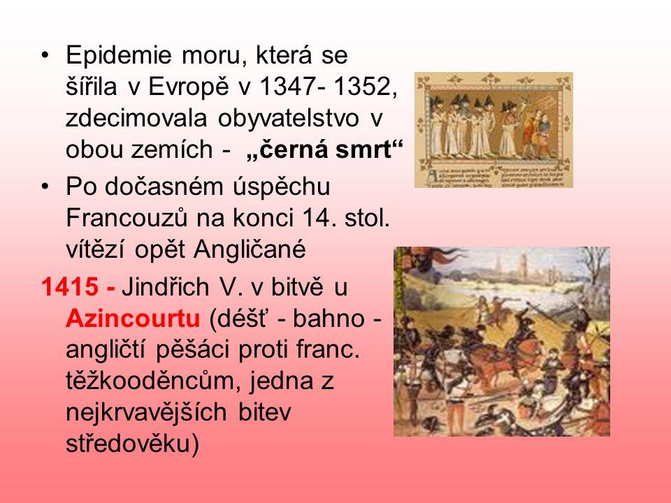 """Epidemie moru, která se šířila v Evropě v 1347- 1352, zdecimovala obyvatelstvo v obou zemích - """"černá smrt"""