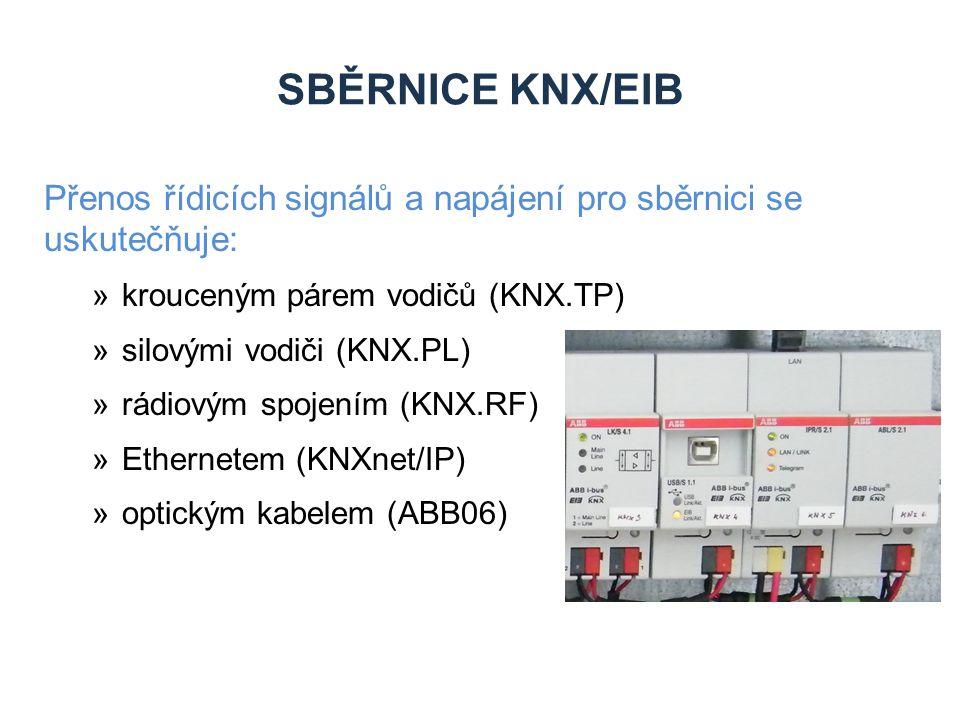 Zdroje Sběrnice KNX/EIB. Přenos řídicích signálů a napájení pro sběrnici se uskutečňuje: krouceným párem vodičů (KNX.TP)