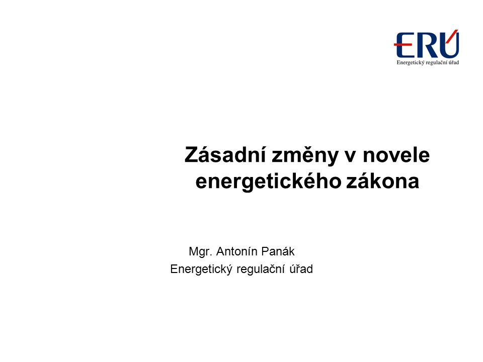 Zásadní změny v novele energetického zákona