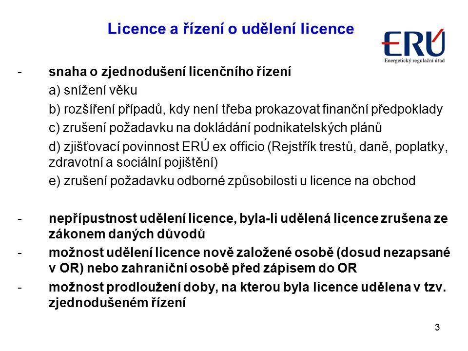 Licence a řízení o udělení licence