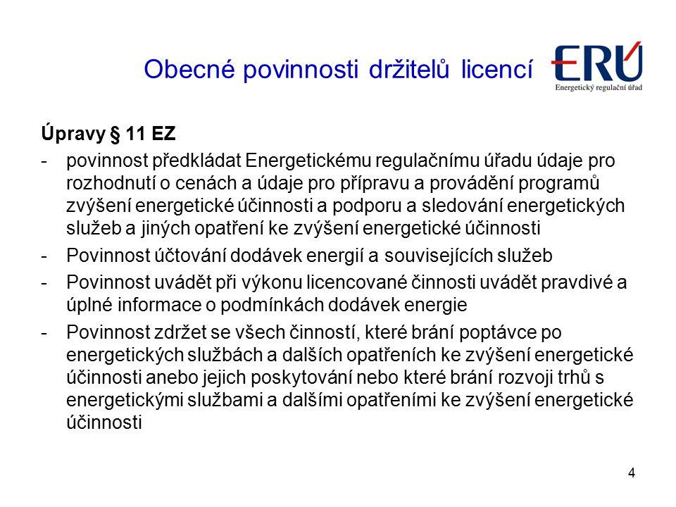 Obecné povinnosti držitelů licencí