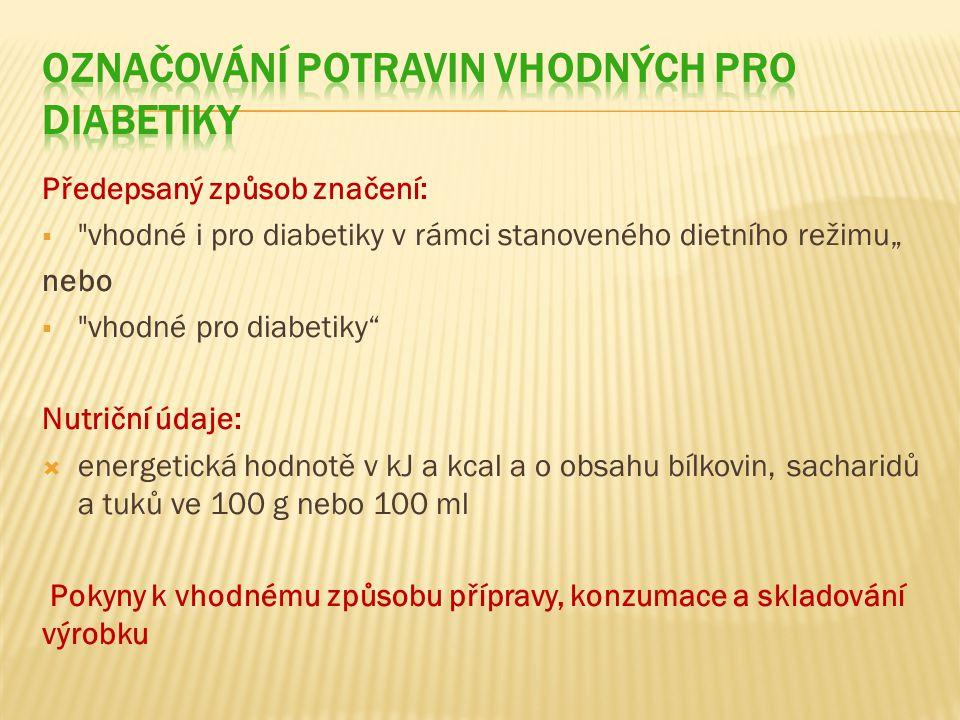 Označování potravin vhodných pro diabetiky