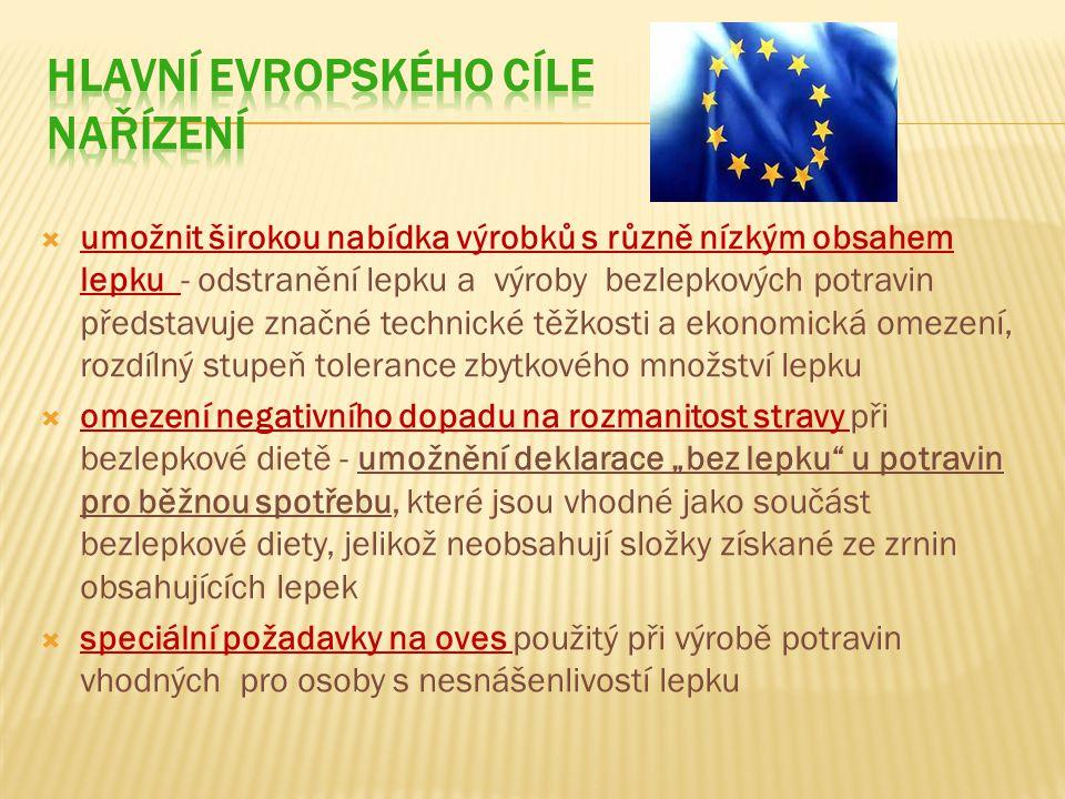 Hlavní evropského cíle nařízení