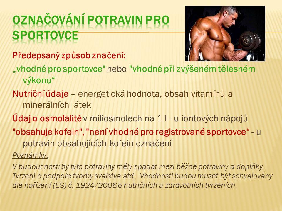 Označování potravin pro sportovce