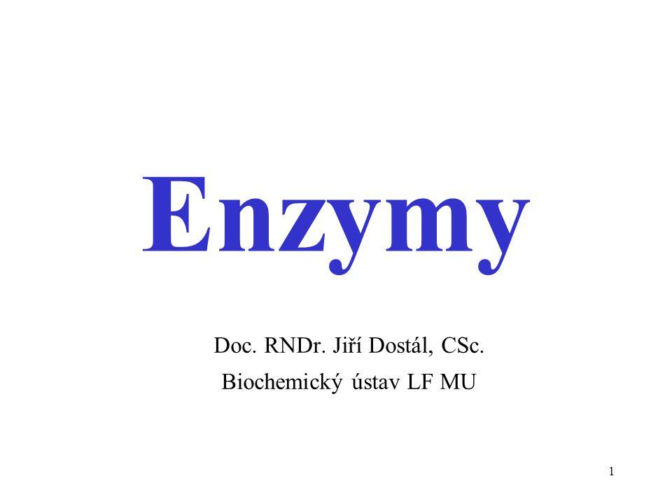 Doc. RNDr. Jiří Dostál, CSc. Biochemický ústav LF MU