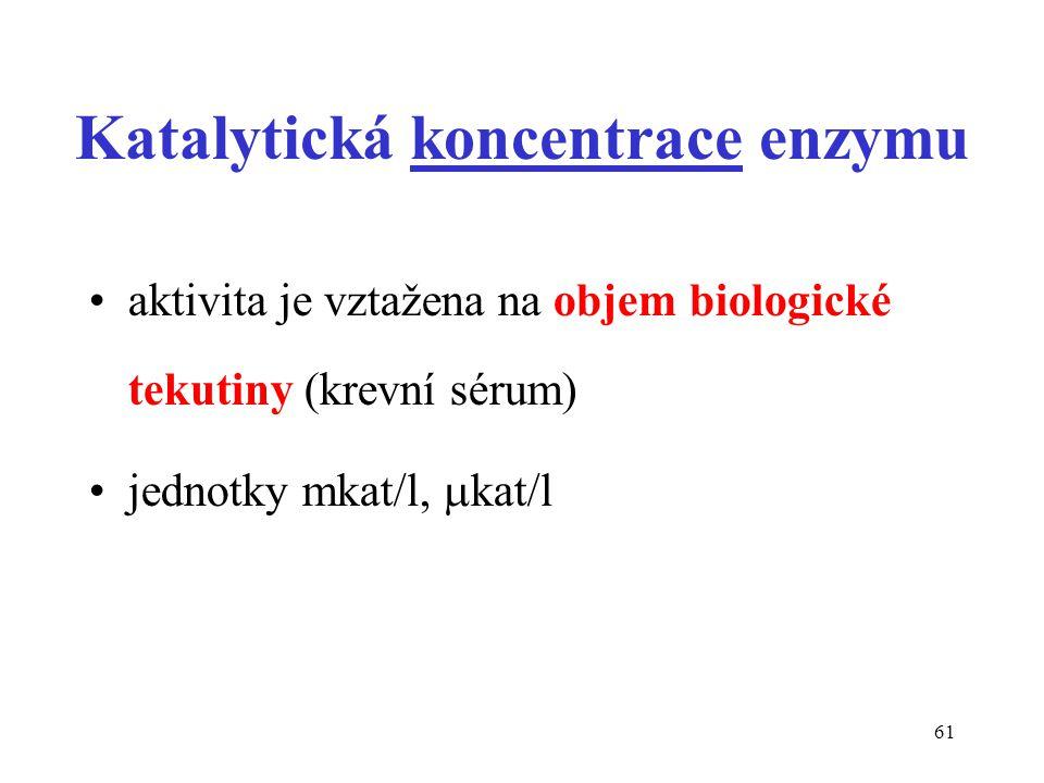 Katalytická koncentrace enzymu