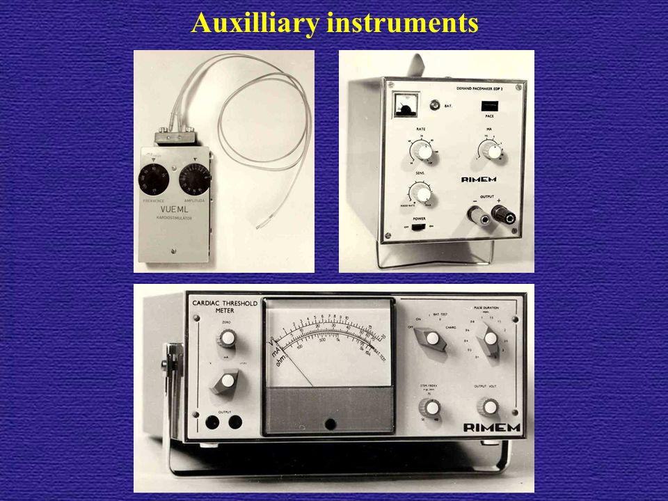 Auxilliary instruments