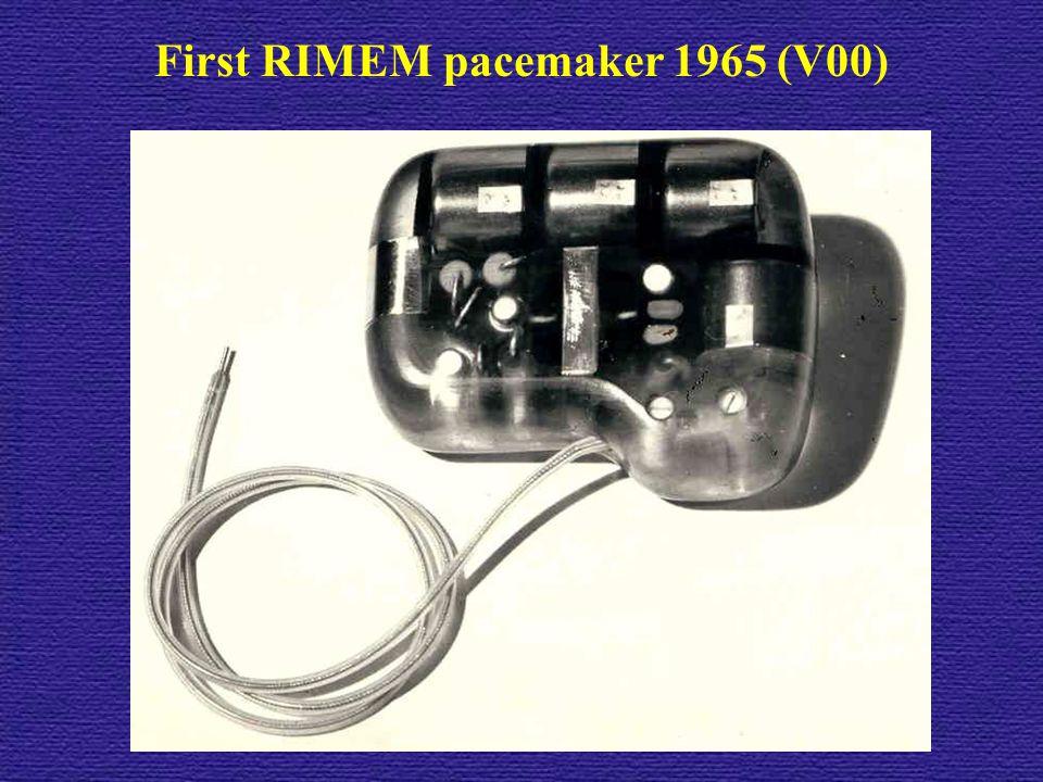 First RIMEM pacemaker 1965 (V00)