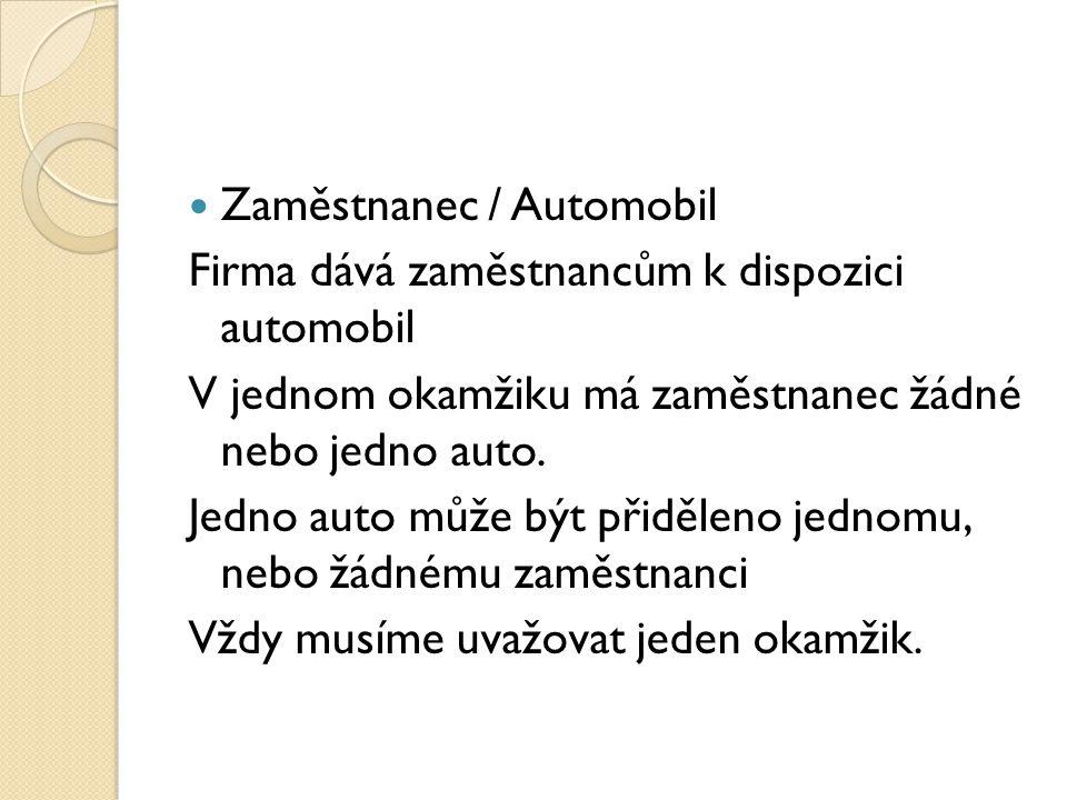 Zaměstnanec / Automobil
