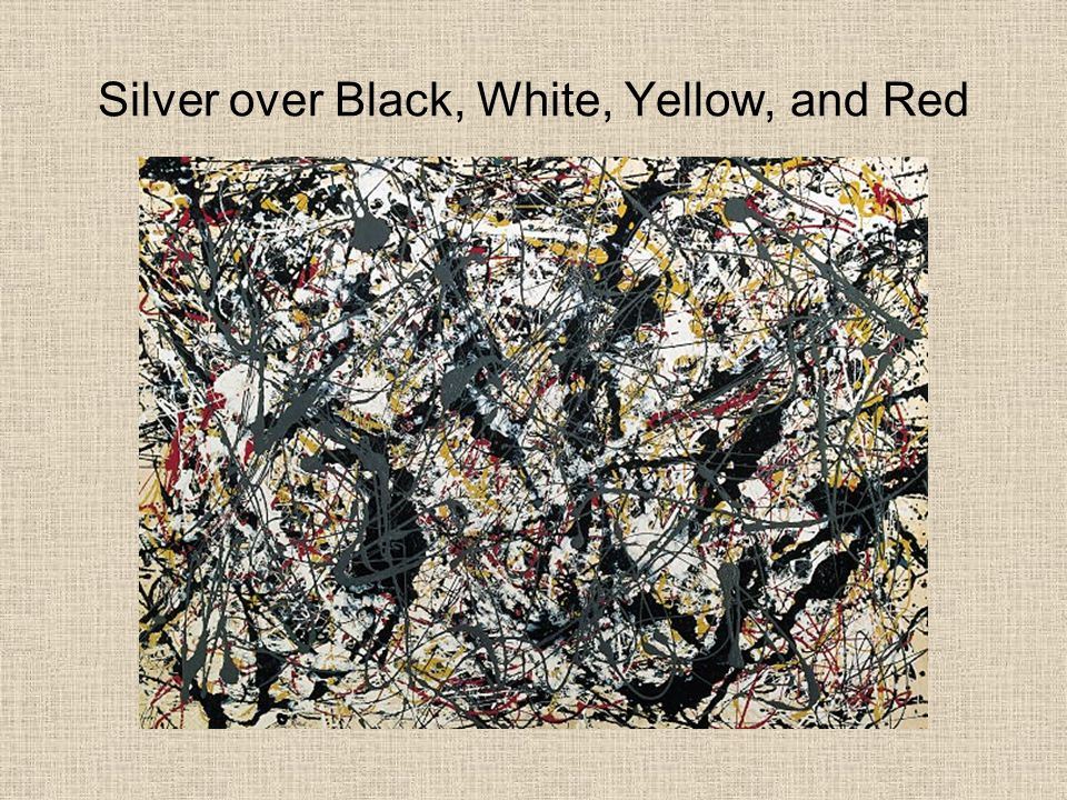 Silver over Black, White, Yellow, and Red