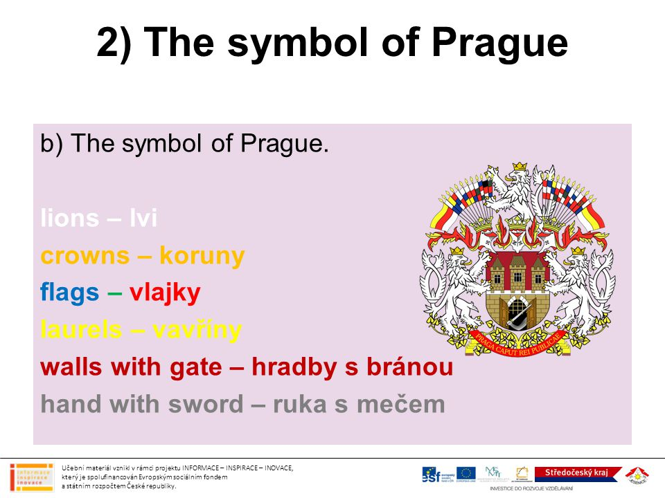 2) The symbol of Prague