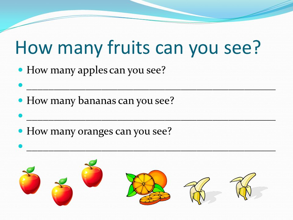 How many fruits can you see