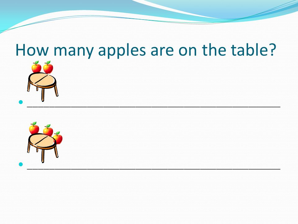 How many apples are on the table
