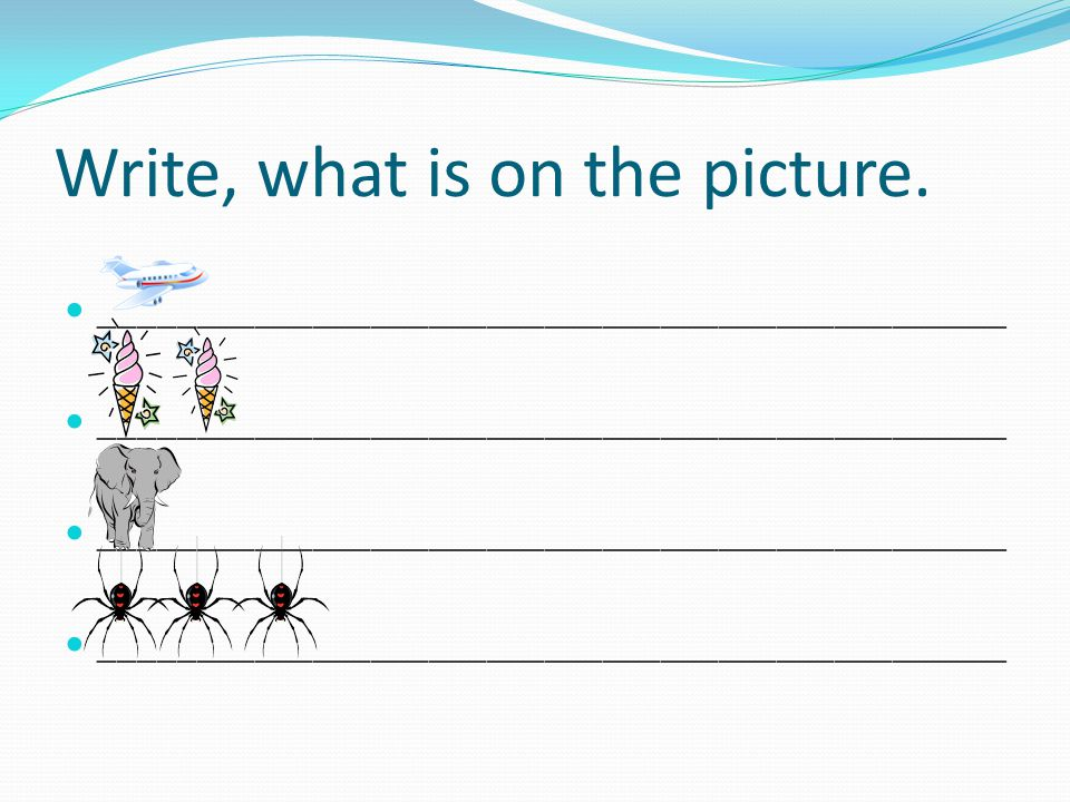 Write, what is on the picture.