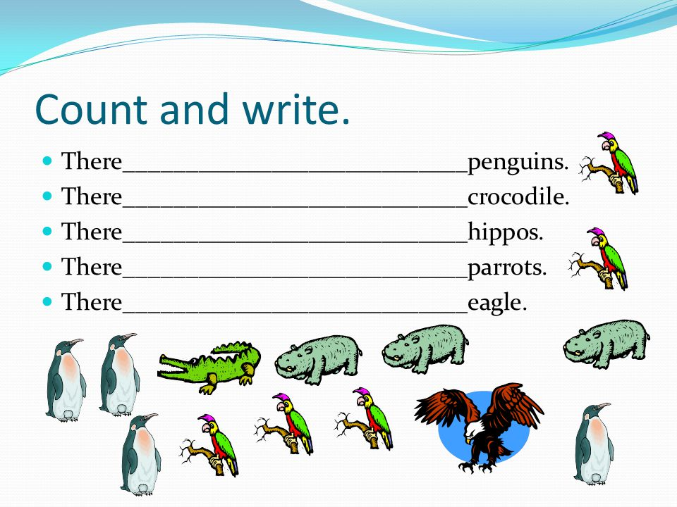 Count and write. There____________________________penguins.