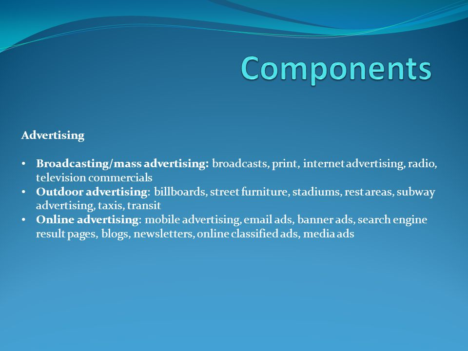 Components Advertising