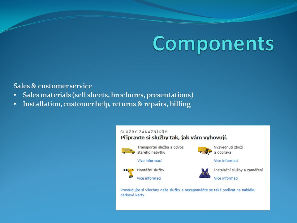 Components Sales & customer service