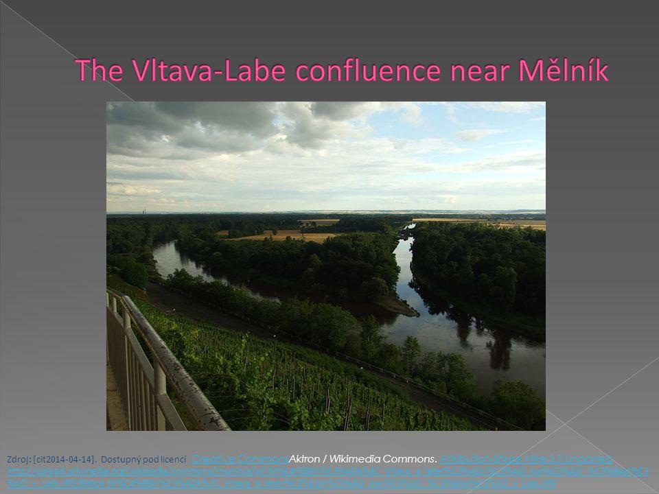 The Vltava-Labe confluence near Mělník