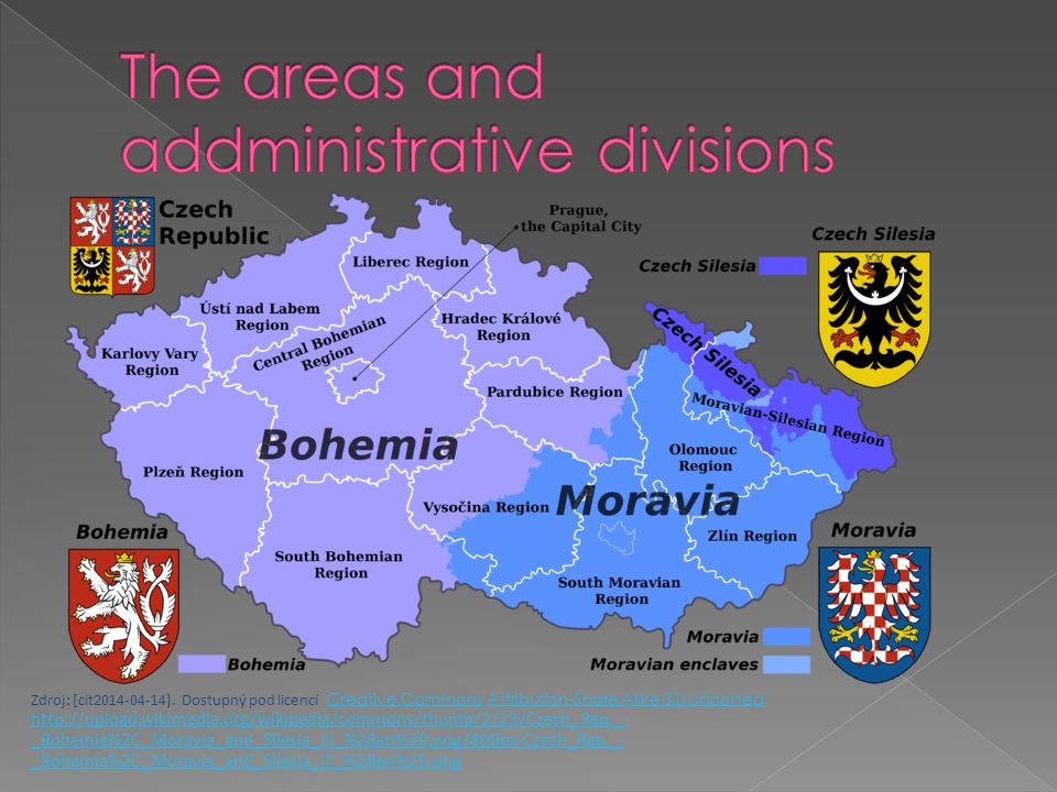 The areas and addministrative divisions