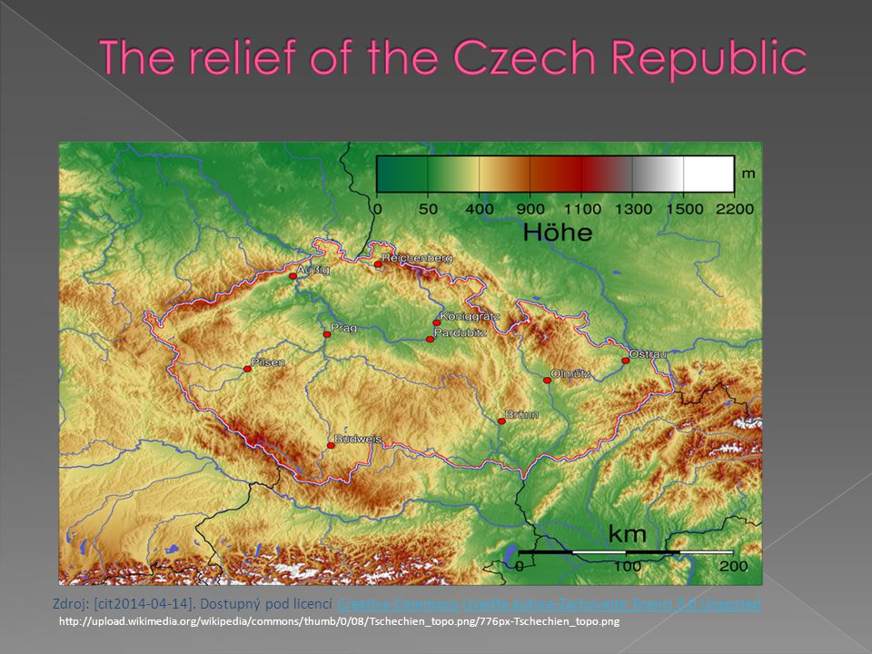 The relief of the Czech Republic